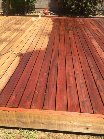 deck stain process