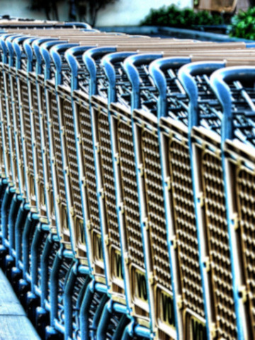 shopping cart sanitizing